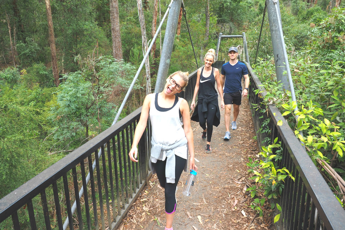 Reaching the end of 1000 Steps Dandenong walk