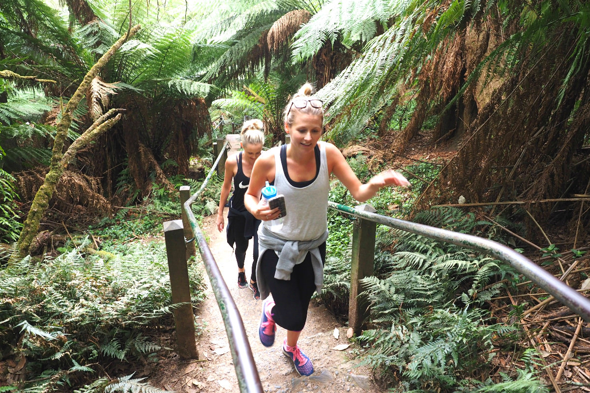 Enjoying the 1000 Steps Dandenong