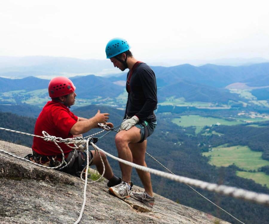 Learning to Abseil with Adventure Guides Australia