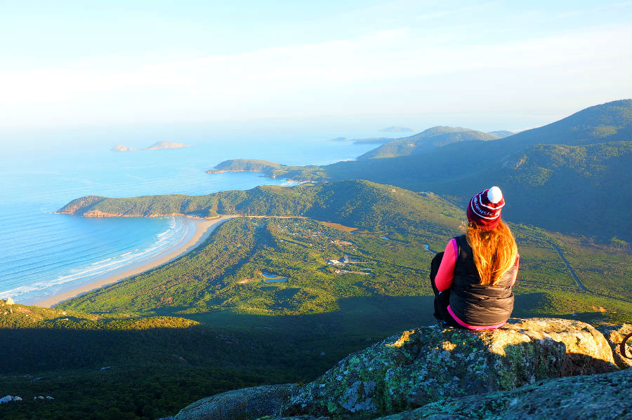 Overlooking Tidal River at Mt Oberon Sunrise