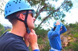 Preparing for Abseiling at Mt Buffalo