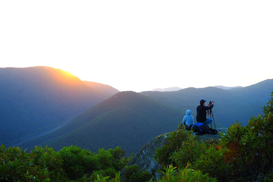 Setting up for Mt Oberon Sunrise