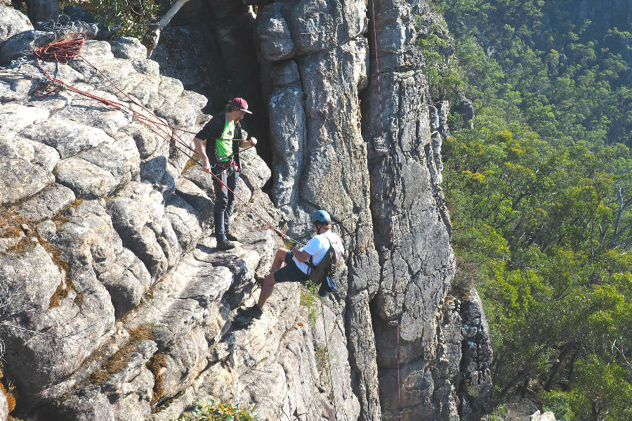 Abseiling in the Grampians