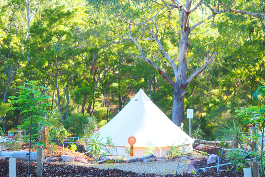 Glamping Bell Tent Lakeside Tourist Park
