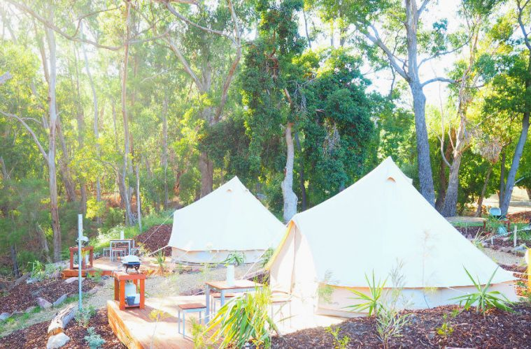 Luxe Bell Tents Lakeside Tourist Park